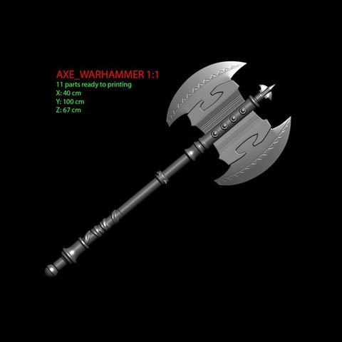 1.JPG Download OBJ file AXE-Warhammer • Object to 3D print, Bstar3Dart