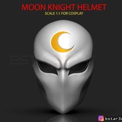 00001.jpg Télécharger fichier STL Masque de Chevalier de la Lune - Casque Marvel • Plan pour impression 3D, Bstar3Dart