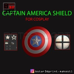 Download 3D printer templates The captain America Shield - Infinity War - Endgame - Marvel , Bstar3Dart
