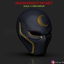 Télécharger fichier imprimante 3D The Moon Knight Helmet - Masque Marvel Modèle d'impression 3D de haute qualité, Bstar3Dart