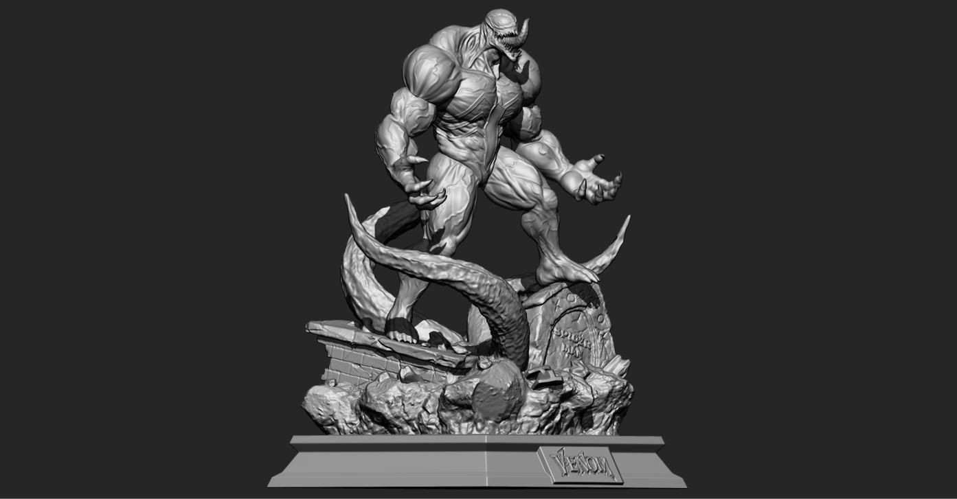2.JPG Download STL file Super Venom - Marvel 3D print model • 3D printer model, Bstar3Dart