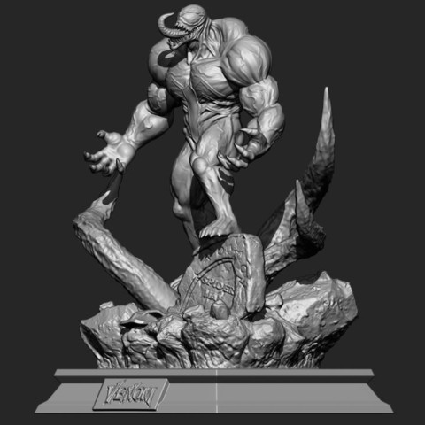 4.JPG Download STL file Super Venom - Marvel 3D print model • 3D printer model, Bstar3Dart