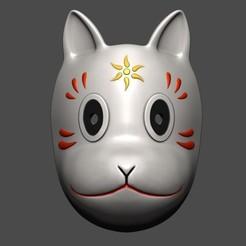 STL Gin's mask - Fox Mask , Bstar3Dprint
