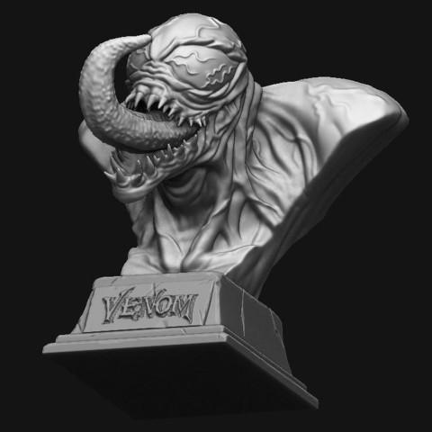 9.JPG Download STL file Venom Bust - Marvel 3D print model • 3D printable design, Bstar3Dart