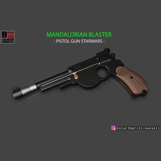 Download 3D printing models Mandalorian Blaster - Pistol Gun STARWARs - Mandalorian STARWARS Movie 2019, Bstar3Dart