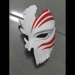 3d print files Half Hollow Mask - Kurosaki Ichigo - Bleach 3D print model, blackstar90