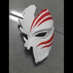 Download 3D printer files Half Hollow Mask - Kurosaki Ichigo - Bleach 3D print model, Bstar3Dart