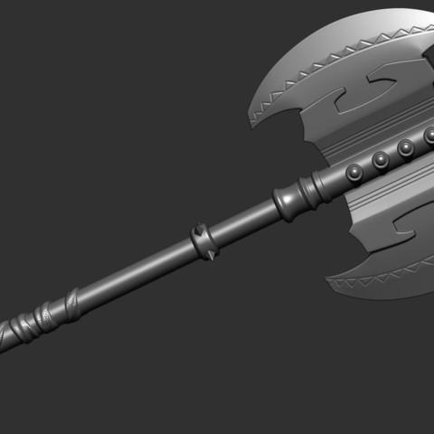 6.JPG Download OBJ file AXE-Warhammer • Object to 3D print, Bstar3Dart
