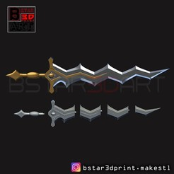 Archivos 3D Fire Emblem Awakening Robin Levin Sword - Modelo de impresión 3D Weapon Cosplay, Bstar3Dprint