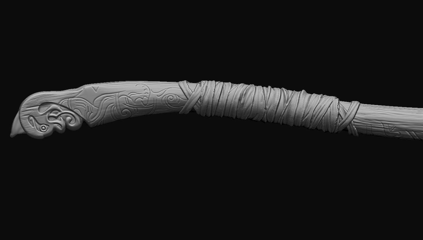 9.JPG Download OBJ file weapon Kratos - Leviathan Axe - God of war 2018 for cosplay • 3D printable design, Bstar3Dart