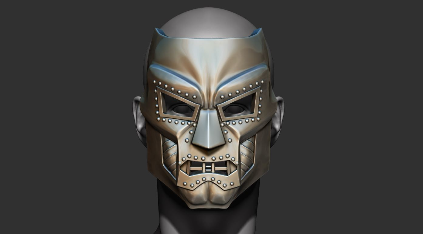 6.JPG Download STL file Doom mask - Helmet Marvel 3D print model • 3D printable model, Bstar3Dart