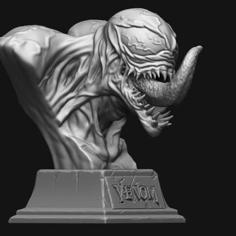 6.JPG Download STL file Venom Bust - Marvel 3D print model • 3D printable design, Bstar3Dart