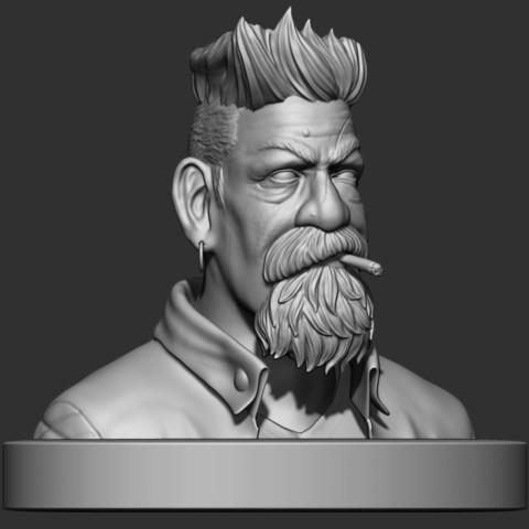 7.JPG Download STL file Zombie Hunter Bust  • Template to 3D print, Bstar3Dart