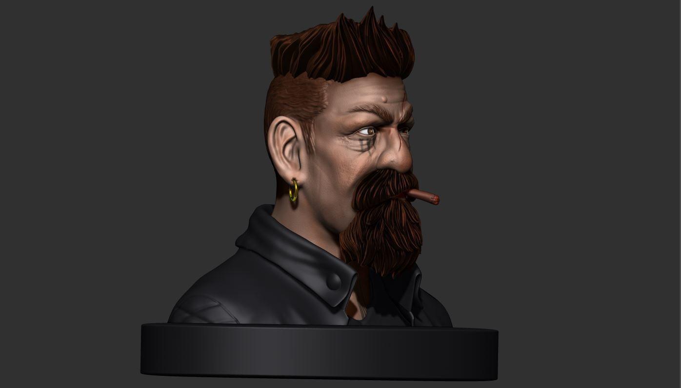 19.JPG Download STL file Zombie Hunter Bust  • Template to 3D print, Bstar3Dart