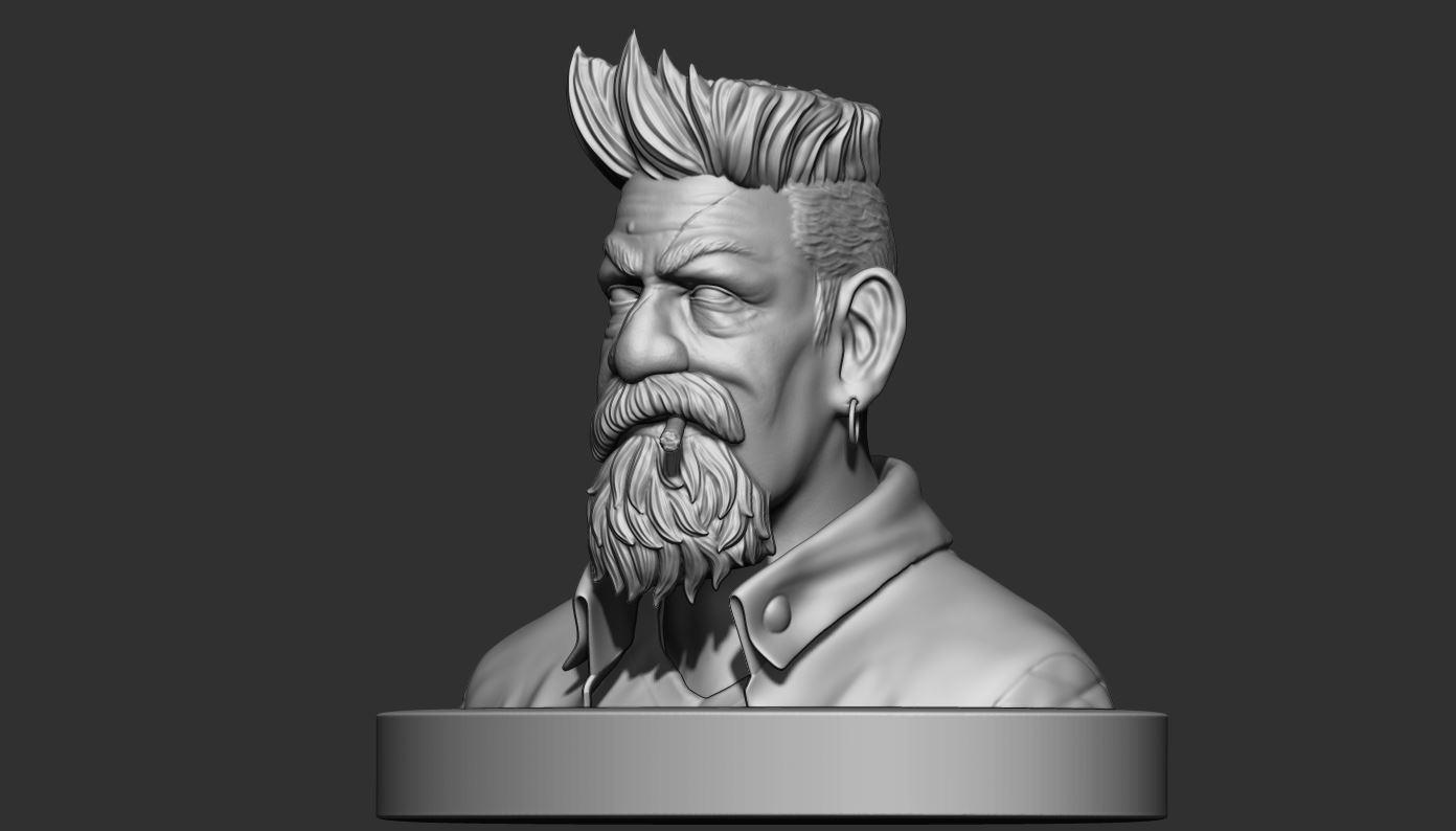 2.JPG Download STL file Zombie Hunter Bust  • Template to 3D print, Bstar3Dart