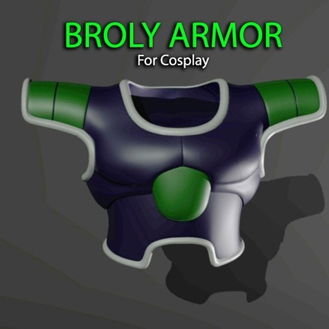 Download 3D printing files Broly Armor - Dragon ball - For Cosplay 3D print model, Bstar3Dart