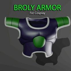 Modelos 3D para imprimir Broly Armor - Dragon ball - Para el modelo de impresión 3D Cosplay, Bstar3Dprint