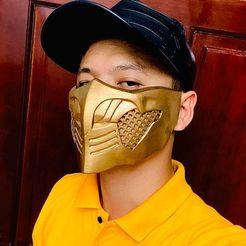 Download 3D printer designs Mortal Kombat X - Scorpion's mask For Cosplay, Bstar3Dart