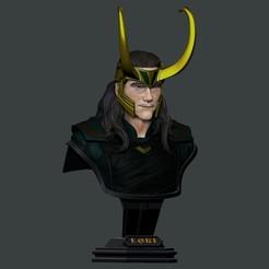 Télécharger fichier STL LOKI Buste 2 Têtes - Marvel - Avenger - Infinity war 3D print model, Bstar3Dart