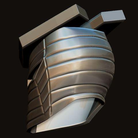 14.JPG Download STL file Destroyer Helmet from Marvel 3D print model • 3D printer object, Bstar3Dart