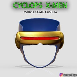 001.jpg Download STL file Cyclops X-Men Helmet - Marvel Comic cosplay 3D print model • 3D printable design, Bstar3Dart
