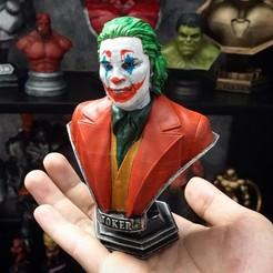 Download STL files Joker Bust -from Joker movie 2019, Bstar3Dart