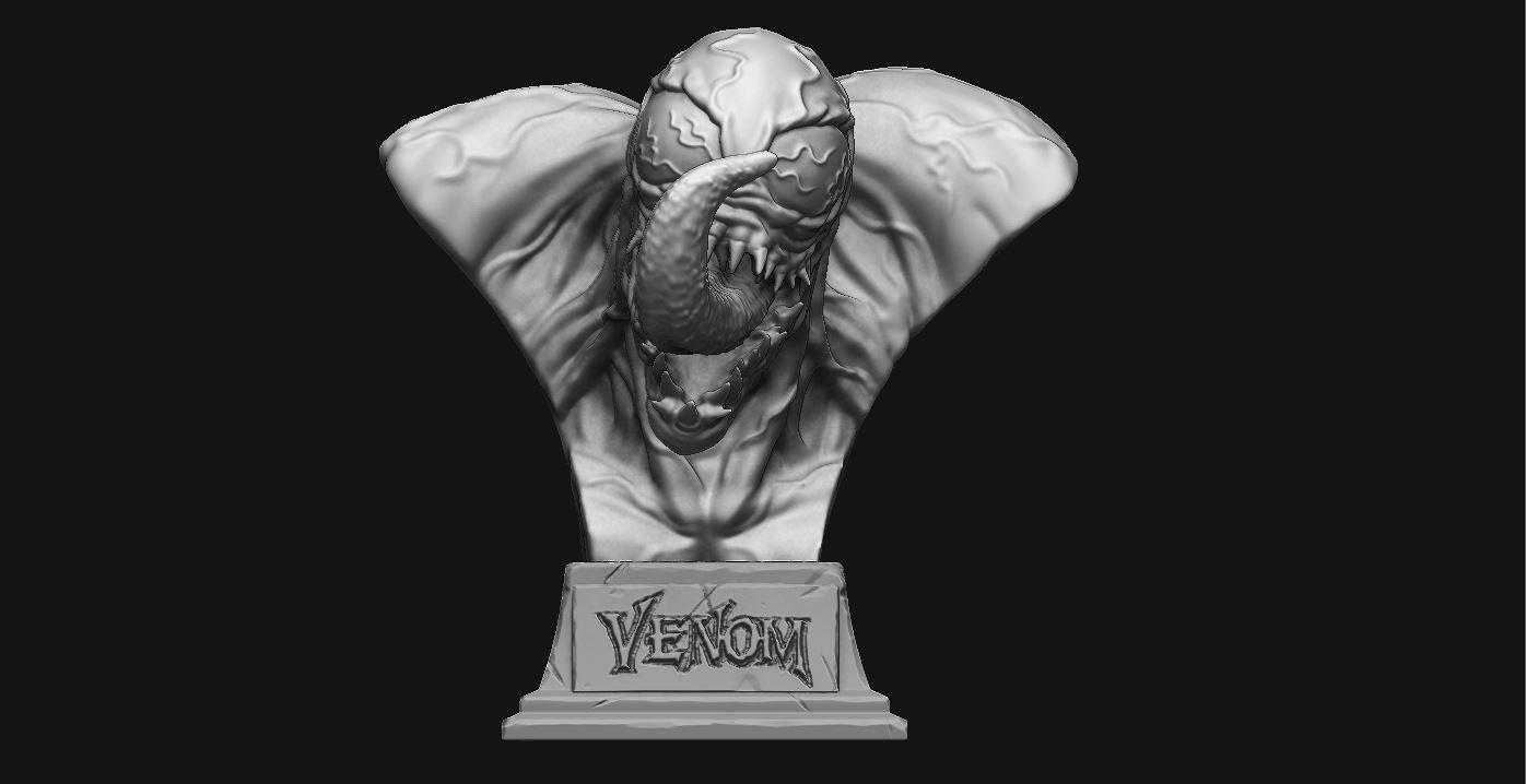 7.JPG Download STL file Venom Bust - Marvel 3D print model • 3D printable design, Bstar3Dart