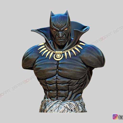 Download STL file Black Panther BUST - Marvel Comic - Fan Art  • 3D printable template, Bstar3Dart