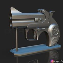 Download 3D printer model Bond Arms Gun - John Wick's Gun , Bstar3Dart