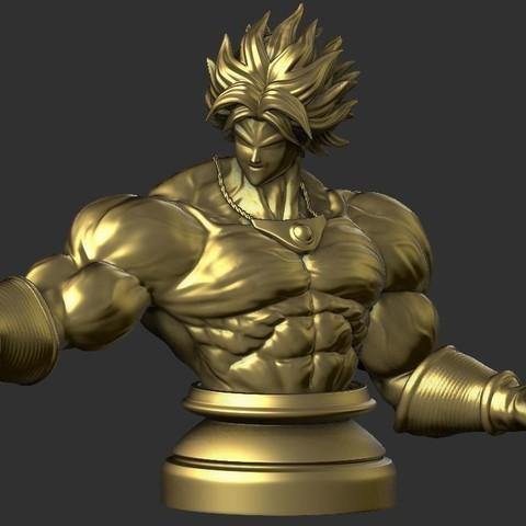 Archivos 3D Busto Broly - Dragonball FighterZ, Bstar3Dprint