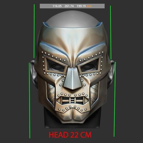 12.JPG Download STL file Doom mask - Helmet Marvel 3D print model • 3D printable model, Bstar3Dart