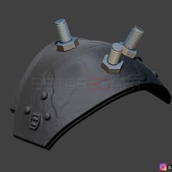 01.jpg Download STL file Cloud shoulder Armor - Final Fantasy VII remake PS4 3D print model • 3D print model, Bstar3Dart