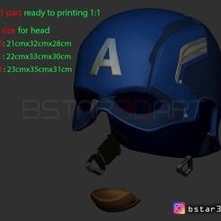 Télécharger fichier imprimante 3D Casque Capitaine - Infinity War - Fin de partie, Bstar3Dart