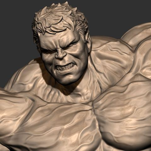 15.JPG Download STL file Hulk Angry - Super Hero - Marvel 3D print model • 3D print model, Bstar3Dart