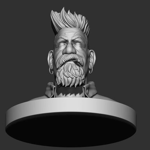 11.JPG Download STL file Zombie Hunter Bust  • Template to 3D print, Bstar3Dart