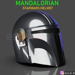 Download 3D printing designs MANDALORIAN HELMET - STAR WARS movie 2019, Bstar3Dart