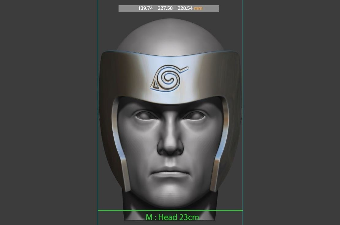 15.JPG Download STL file Tobirama Senju Mask - Second Hokage - Naruto Cosplay 3D print model • Template to 3D print, Bstar3Dart