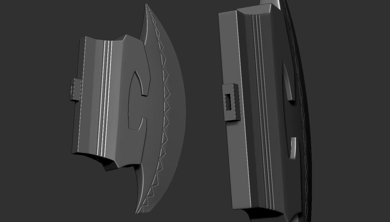 15.JPG Download OBJ file AXE-Warhammer • Object to 3D print, Bstar3Dart