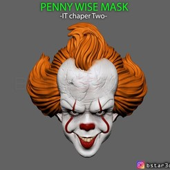 Download 3D printer designs Penny Wise Mask - IT chapter Two , Bstar3Dart