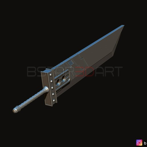 04.jpg Download STL file Buster Sword Cloud - Final Fantasy VII Remake • 3D printable template, Bstar3Dart