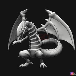 01.jpg Download STL file blue eyes white dragon - Yu Gi Oh • 3D printer object, Bstar3Dart