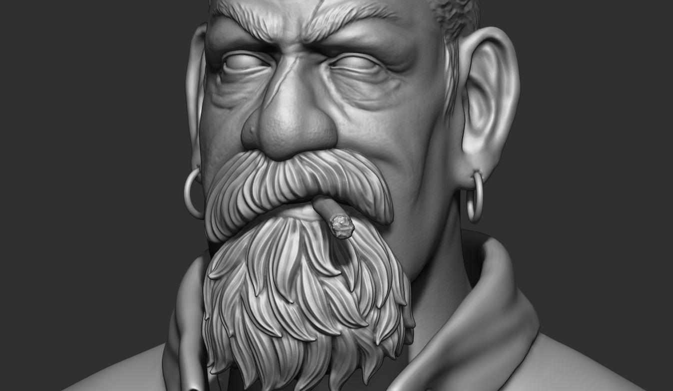 22.JPG Download STL file Zombie Hunter Bust  • Template to 3D print, Bstar3Dart