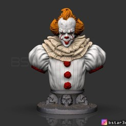 Download 3D printing models IT  chapter Two Bust - Halloween 3d model, Bstar3Dart