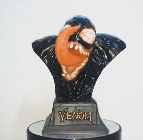 49329552_2169790173060307_4086347089322180608_n0278.jpg Download STL file Venom Bust - Marvel 3D print model • 3D printable design, Bstar3Dart