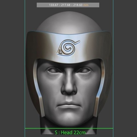 14.JPG Download STL file Tobirama Senju Mask - Second Hokage - Naruto Cosplay 3D print model • Template to 3D print, Bstar3Dart
