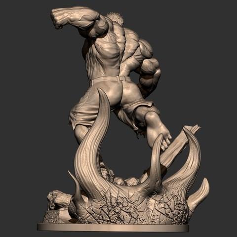 4.JPG Download STL file Hulk Angry - Super Hero - Marvel 3D print model • 3D print model, Bstar3Dart