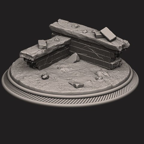 Download 3D printing models custome rubble Base for miniatures - Figures - version 02, Bstar3Dart