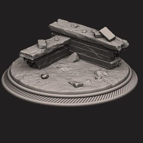 3D print files custome rubble Base for miniatures - Figures - version 02, Bstar3Dprint
