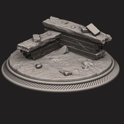 3D print files custome rubble Base for miniatures - Figures - version 02, Bstar3Dprint