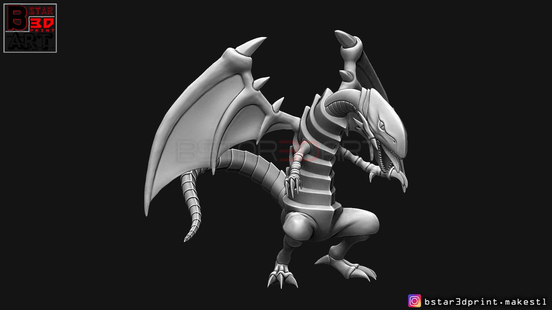 06.jpg Télécharger fichier STL yeux bleus dragon blanc - Yu Gi Oh • Modèle à imprimer en 3D, Bstar3Dart